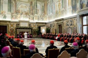 papez na predvianocnom stretnuti 2014 2